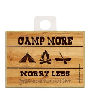 Camp More - Worry Less Magnet