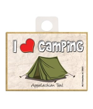 I (heart) Camping - Green tent Magnet