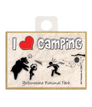 I (heart) Camping - Stick figure getting