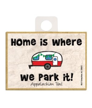 Home is where we park it! - red and whit