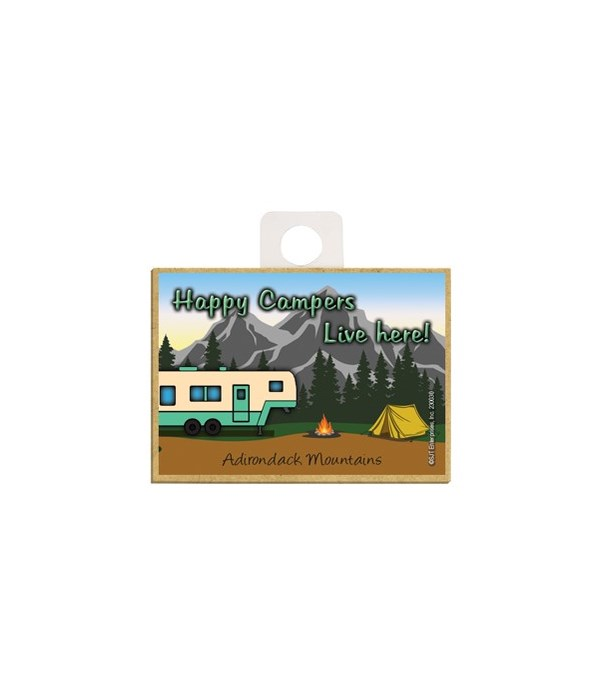Happy Campers Live Here! - Off white and