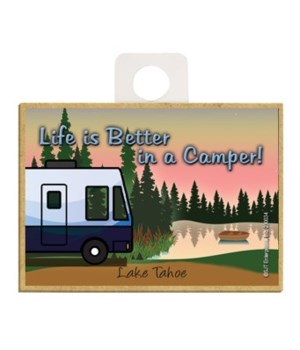 Life is Better in a Camper - Blue and wh