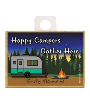 Happy Campers Gather Here - Green and si