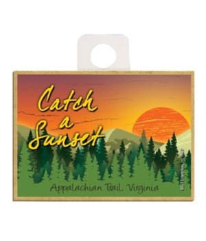Catch a Sunset - Sunset over green mount