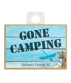 Gone Camping - Beach themed wood sign Ma