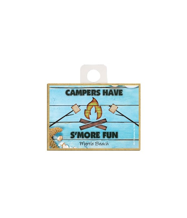 Campers have S'more Fun - Beach themed w