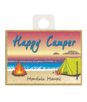 Happy Camper - Beach scene w/tent and fi