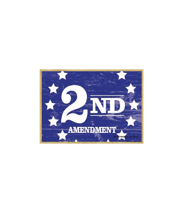 2nd Amendment (Rustic) Magnet