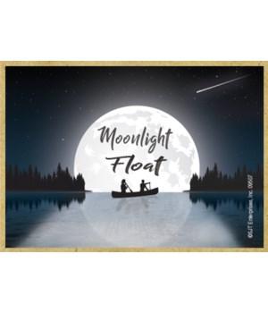Moonlight Float - canoe/moon reflection