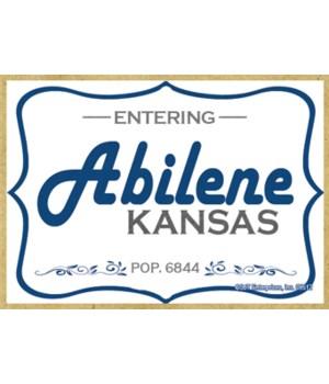 (Entering) Abilene, Kansas - POP. 6844