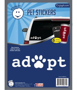 Adopt and Paw Car Stickers