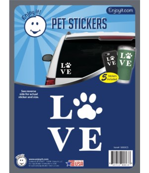 Love and Paw Car Stickers