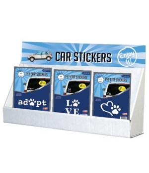 Pet Paw Stickers Small Counter Display