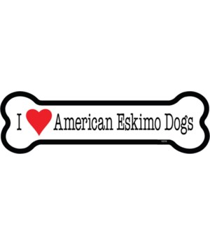 I (heart) Am Eskimo Bone magnets