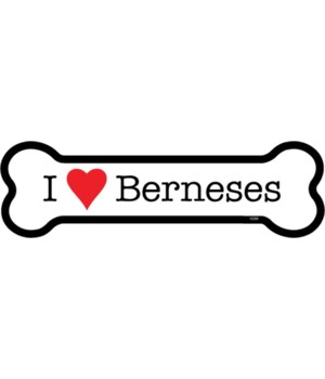 I (heart) Berneses bone magnet