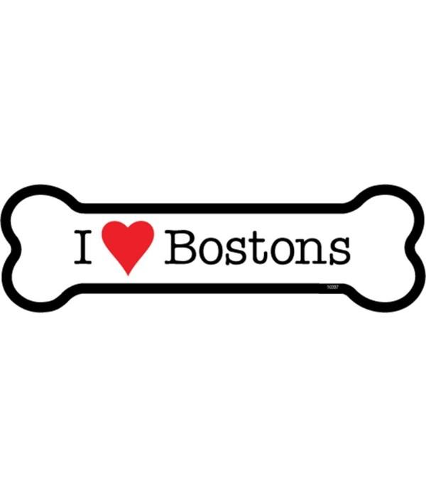 I (heart) Bostons bone magnet