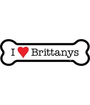 I (heart) Brittanys bone magnet