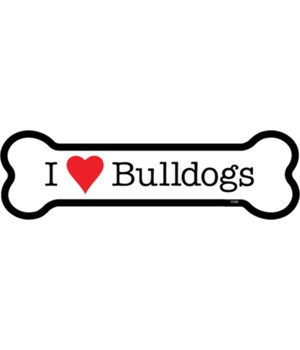 I (heart) Bulldogs bone magnet