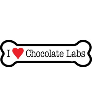 I (heart) Chocolate Labs bone magnet