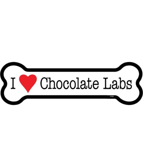 I (heart) Chocolate Labs bone magnet