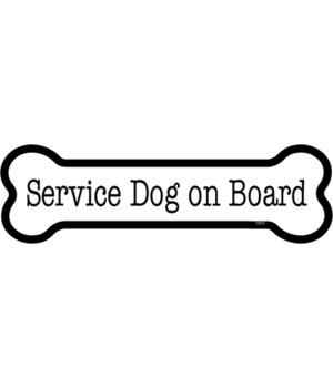 Service Dog on board bone magnet