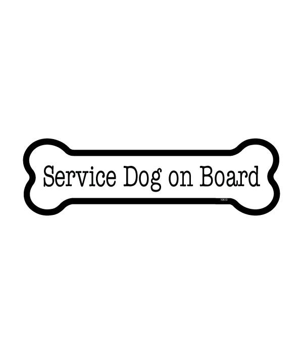 Service Dog on board bone magnet