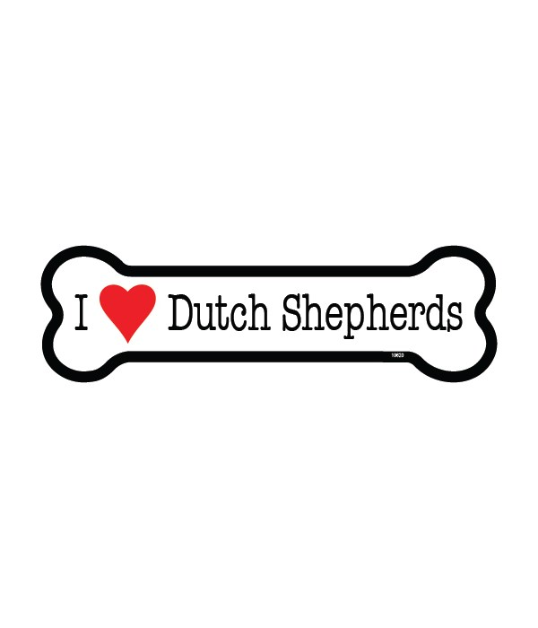 Dutch Sheperds bone magnet