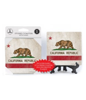 California State Flag - Bear with star -