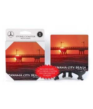 Panama City Beach - silhouette of pier w