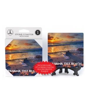 Panama City Beach - sunset on beach with