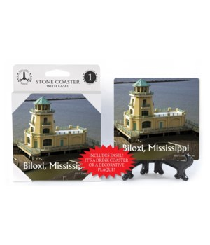 Biloxi, Mississippi yellow lighthouse w/
