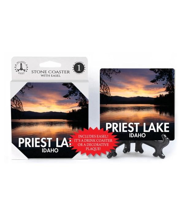 Priest Lake, Idaho Overlooking  an orang