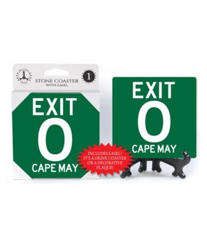 Cape May - EXIT 0 - Green road sign styl