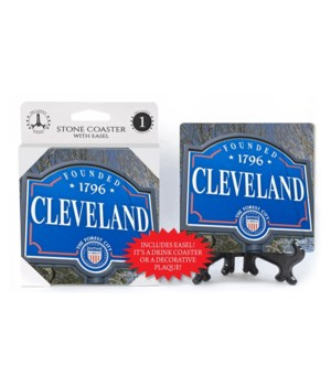"Cleveland coaster - ""Founded 1796 Clevel"