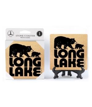 Long Lake - Bear and cub coaster 1pk