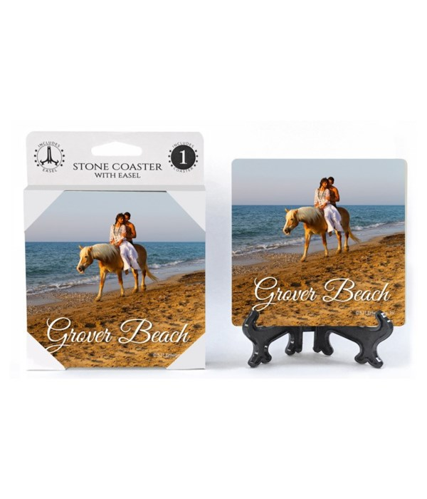 Grover Beach - horse ride along a sandy