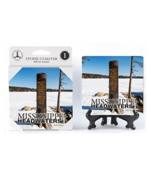 Mississippi Headwaters - marker carved i