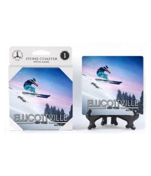 Ellicottville, New York - Skier jumping