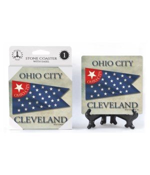 Ohio City, Cleveland - Ohio City flag wi