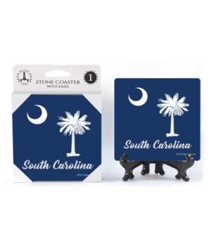 South Carolina - Palmetto tree with moon