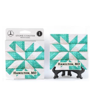 Hamilton, MO - green and white quilt