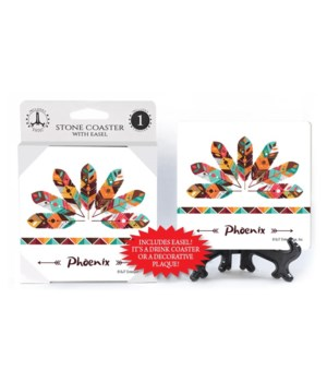 Phoenix (feathers with colorful design &
