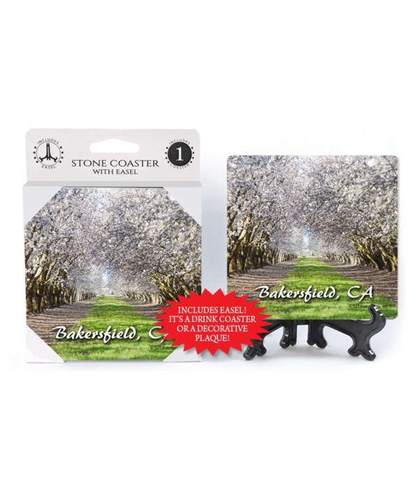Bakersfield, CA - white flowered almond
