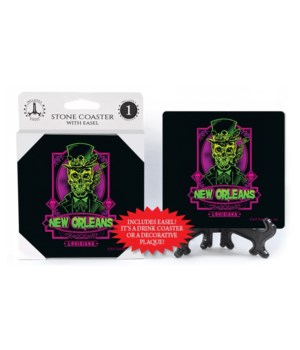 New Orleans - Neon Green / Pink Skull wi