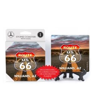 Williams, AZ - Rt 66 - Sunset blended in