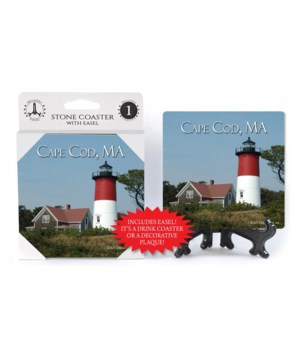 Cape Cod, MA - Lighthouse - Red and Whit