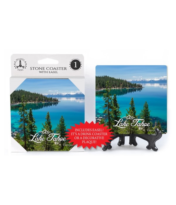 Lake Tahoe - Clear water shore w/pine fo