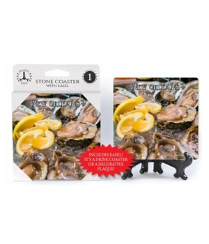 New Orleans Theme - Oyster plate - lemon
