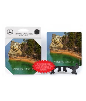 Miners Castle Coaster 1Pack with Easel