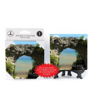 Arch Rock Coaster 1Pack with Easel